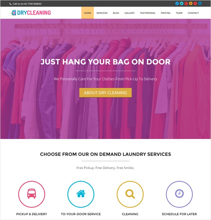 DryCleaning WordPress Theme