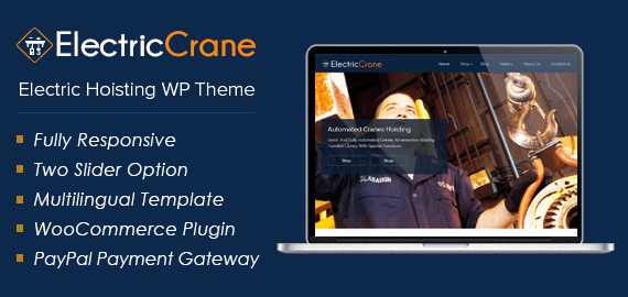 Electric Crane – Electric Hoisting WordPress Theme