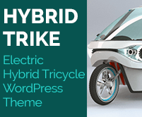 Hybrid Trike - Electric Hybrid Tricycle WordPress Theme & Template