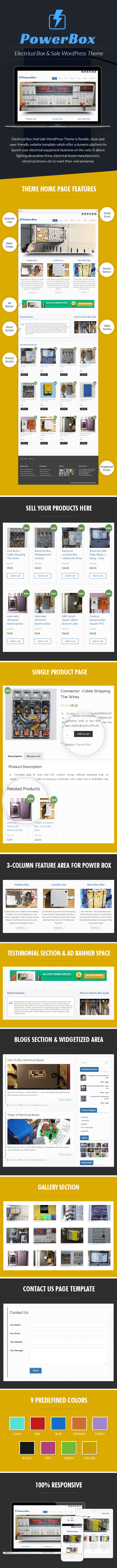 Electrical Box And Sale WordPress Theme Sales