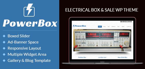 Electrical Box And Sale WordPress Theme