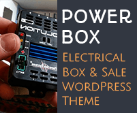 Power Box - Electrical Box And Sale WordPress Theme & Template