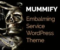 Mummify - Embalming Service WordPress Theme & Template