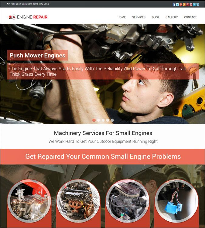 EngineRepair WP theme