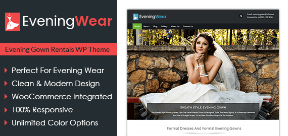 Evening Wear – Evening Gown Rentals WordPress Theme