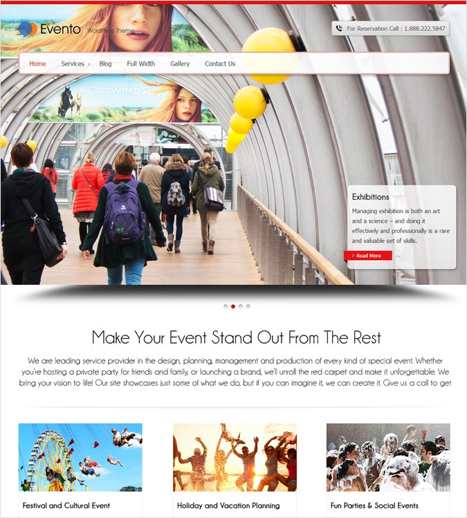 Evento WP theme