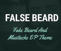 False Beard - Fake Beard And Mustache WordPress Theme & Template