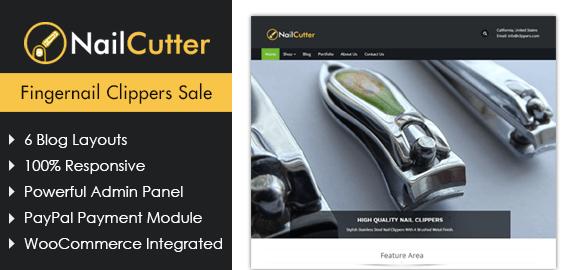Fingernail Clippers Sale WordPress Theme & Template