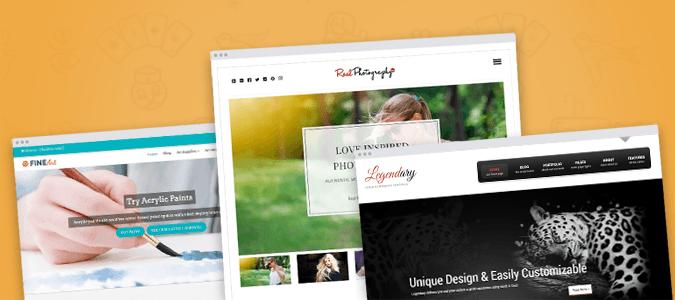 Flat Design Responsive Portfolio WordPress Themes