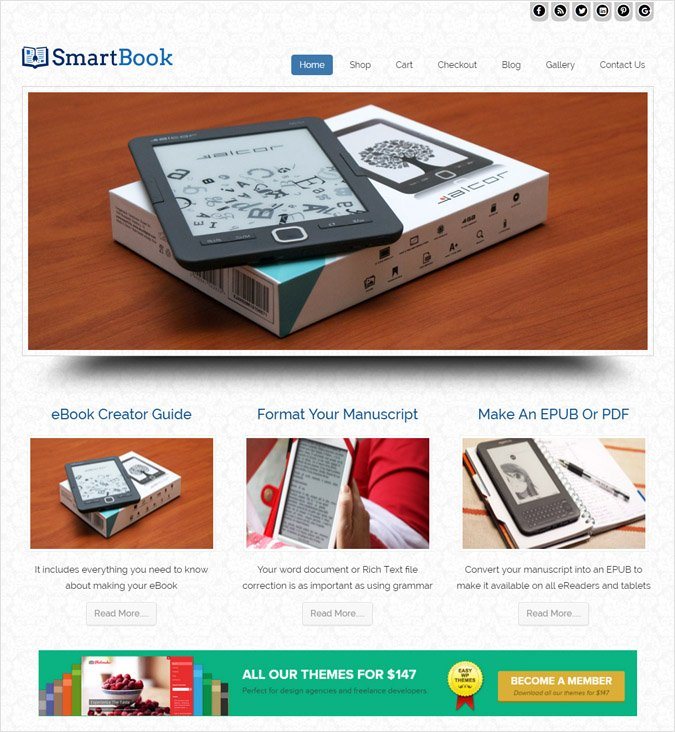 Flat Ebook Selling WordPress Theme