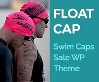Float Cap - Swim Caps Sale Ecommerce WordPress Theme & Template