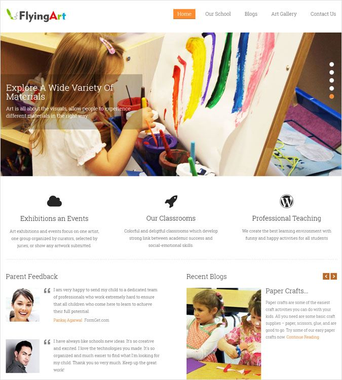FlyingArt WP theme