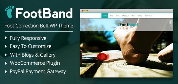 Foot Band – Foot Correction Belt WordPress Theme