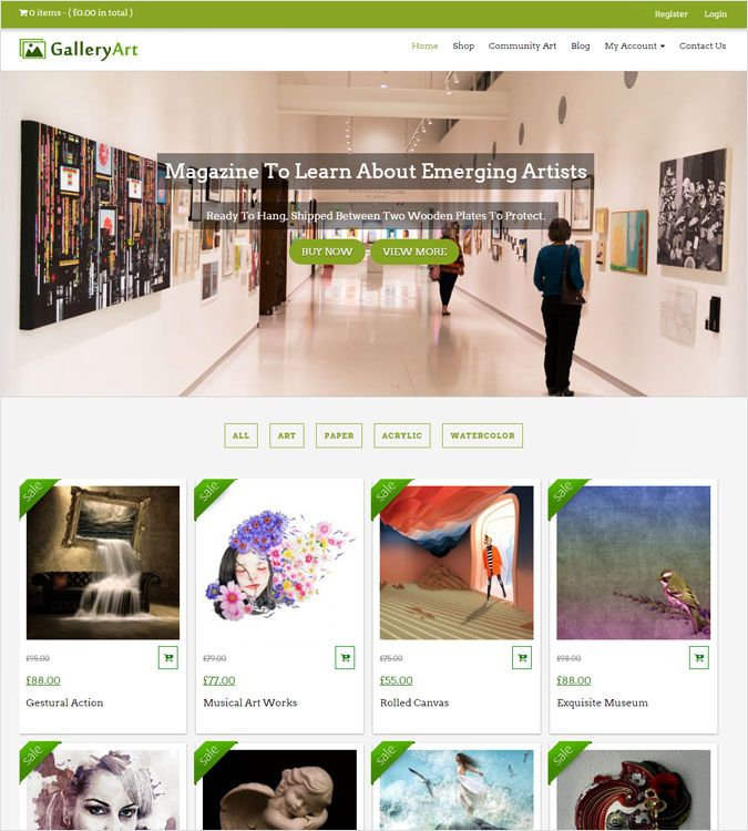 GalleryArt WP theme