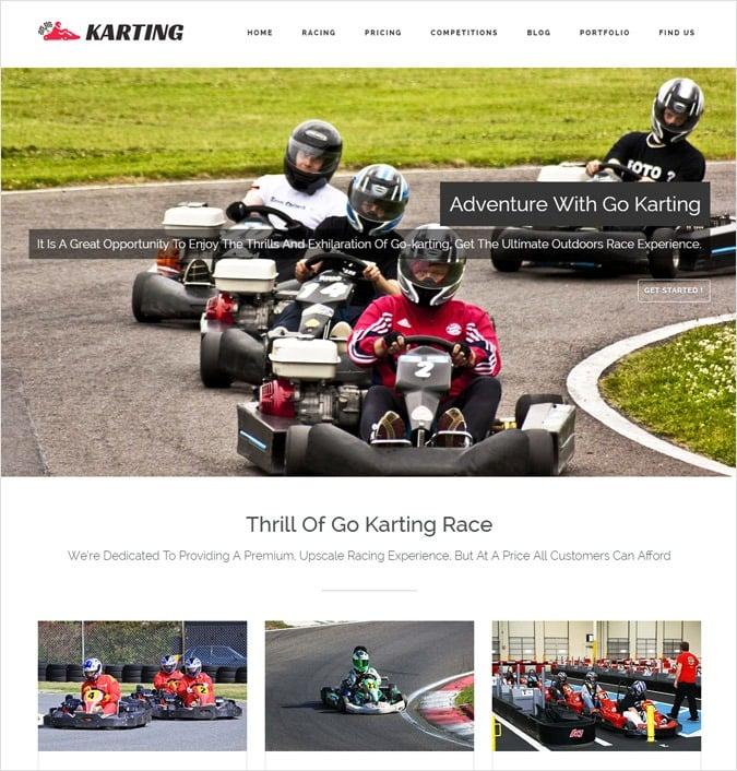 Go Kart Racing WordPress Theme