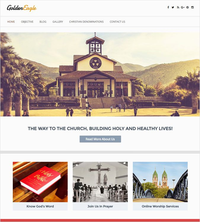 GoldenEagle WordPress Theme