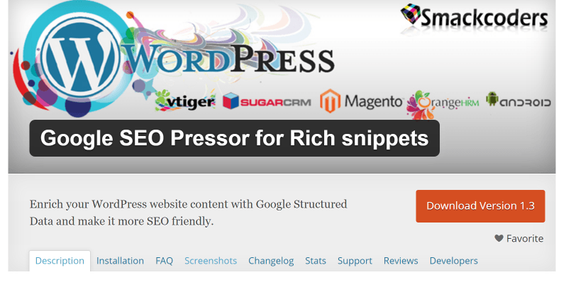 Google SEO Pressor For Rich Snippets