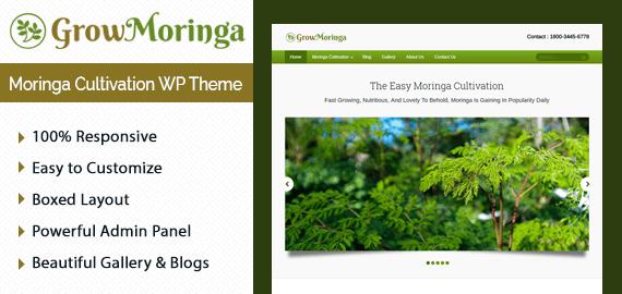 Grow Moringa – Moringa Cultivation WordPress Theme