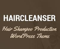 Hair Cleanser - Hair Shampoo Production WordPress Theme & Template