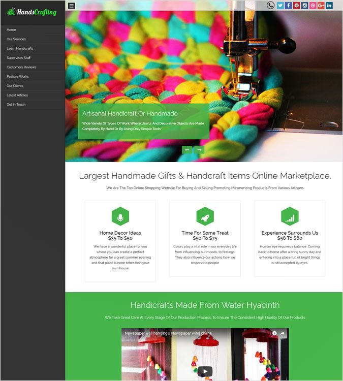 HandsCrafting WP theme