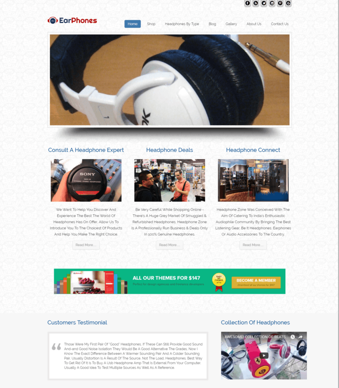Headphones Sale WordPress Theme