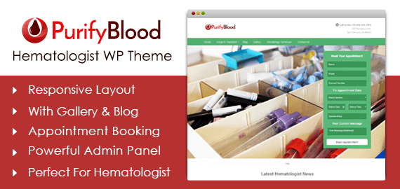 Hematologist WordPress Theme
