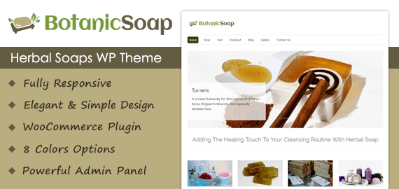Herbal Soaps WordPress Theme