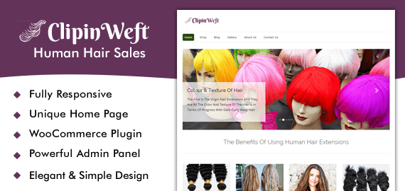 Human Hair Sales WordPress Theme