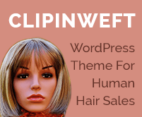 Clipin Weft - Human Hair Sales WordPress Theme & Template
