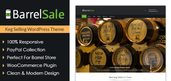 Keg Selling WordPress Theme