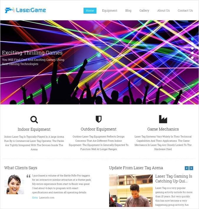 Laser Tag Company WordPress Theme