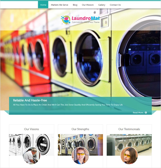 LaundroMat WordPress Theme