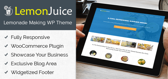 Lemonade Making WordPress Theme