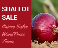 Shallot Sale - Onions Sales WordPress Theme & Template