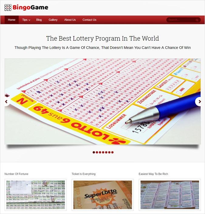 Lottery Program WordPress Theme