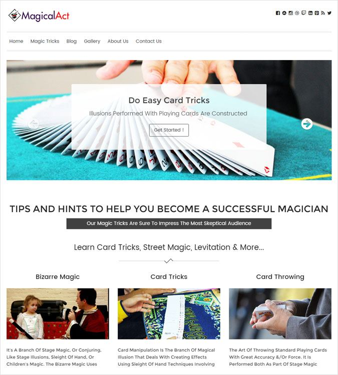 MagicalAct WP theme