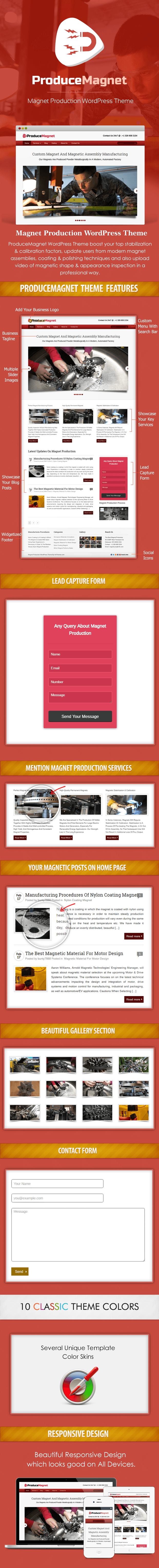 Magnet Production WordPress Theme