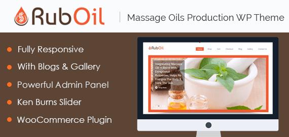 Rub Oil – Massage Oils Production WordPress Theme