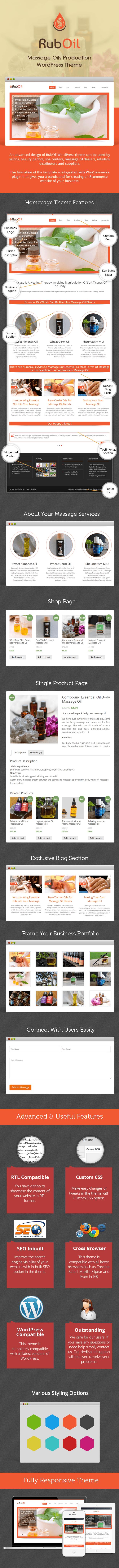 Massage Oils Production WP Theme