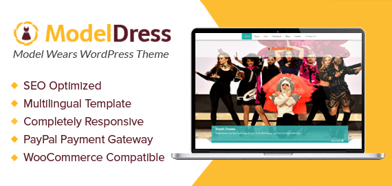 Model Wears WordPress Theme