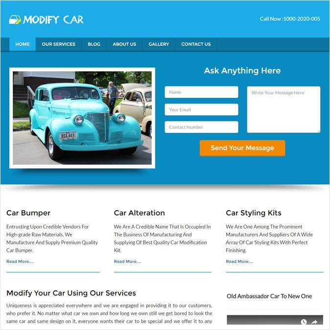 ModifyCar WP theme