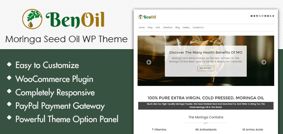 Moringa Seed Oil WordPress Theme