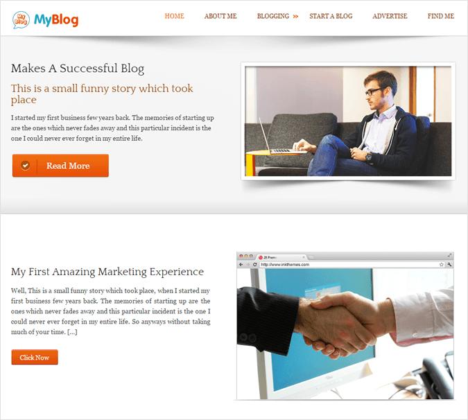MyBlog WP Theme