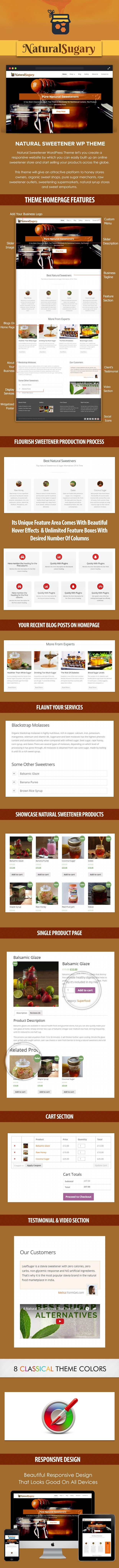 Natural Sweetener WordPress Theme
