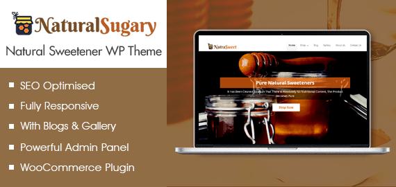 [NaturalSugary] Natural Sweetener WordPress Theme
