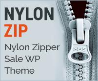 Nylon Zip - Nylon Zipper Sale WordPress Theme & Template