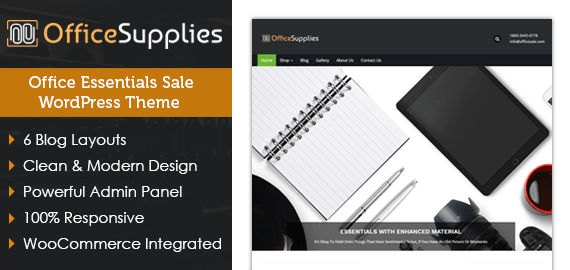 Office Supplies – Office Essentials Sale WordPress Theme
