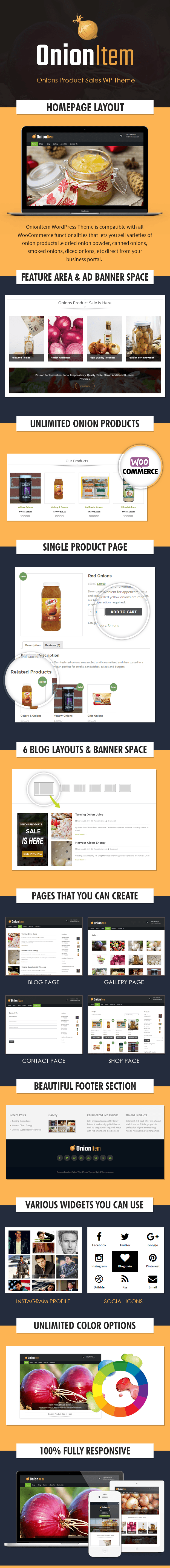 Onions Product Sales WordPress Theme Sales