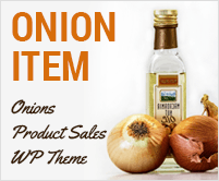 Onion Item - Onions Product Sales WordPress Theme & Template