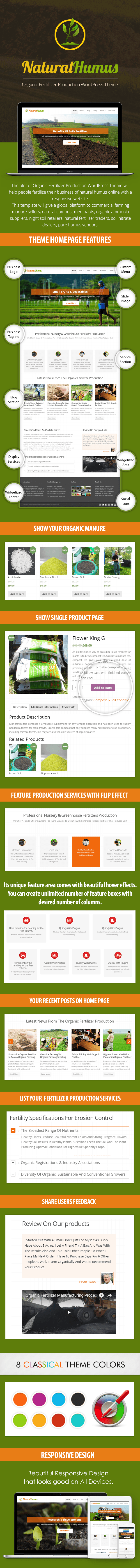 Organic Fertilizer Production WordPress Template